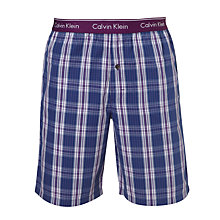 Buy Calvin Klein Collins Plaid Check Lounge Shorts, Purple Online at johnlewis.com
