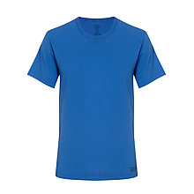 Buy Calvin Klein Crew Neck Logo T-Shirt, Cobalt Blue Online at johnlewis.com