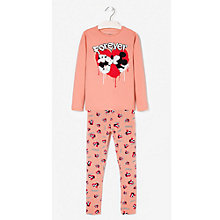 Buy Mango Kids Girls' Mickey and Minnie Pyjamas, Brown Online at johnlewis.com