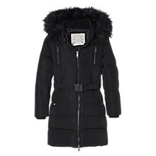 Buy Mango Kids Girls' Water-Repellent Feather Down Coat, Black Online at johnlewis.com
