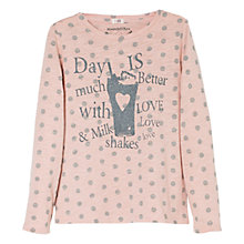 Buy Mango Kids Girls' Ploka Dot Glitter Long Sleeved T-Shirt Online at johnlewis.com
