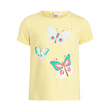 Buy John Lewis Girl Butterfly T-Shirt, Yellow Online at johnlewis.com