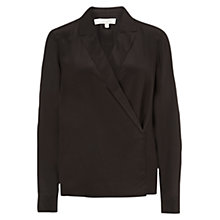 Buy Hobbs London Hilles Wrap Shirt, Bitter Choc Online at johnlewis.com