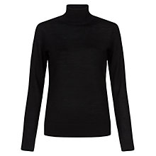 Buy Hobbs Lara Roll Neck Jumper, Winter Fuchsia Online at johnlewis.com