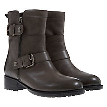 Buy Mint Velvet Darcy Buckle and Zip Detail Leather Calf Boots Online at johnlewis.com