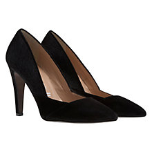 Buy Mint Velvet Lisa Pointed Leather Court Shoes, Black Online at johnlewis.com
