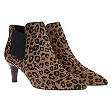 Buy Mint Velvet Tommie Faux Pony Hair Pointed Leather Ankle Boots, Leopard Print Online at johnlewis.com