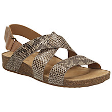 Buy Clarks Perri Dunes Suede Snake Sandals, Taupe Online at johnlewis.com