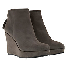 Buy Mint Velvet Chloe Wedged Suede Ankle Boots, Grey Online at johnlewis.com