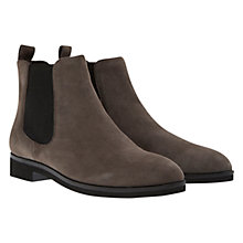 Buy Mint Velvet Tia Suede Flat Chelsea Boots, Grey Online at johnlewis.com