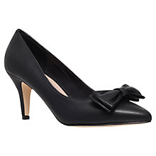 Buy Carvela Keeley High Heel Bow Court Shoes, Black Online at johnlewis.com