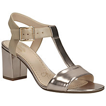 Buy Clarks Smart Deva Leather Sandals, Gold Metallic Online at johnlewis.com
