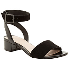 Buy Clarks Sharna Balcony Suede Sandals, Black Online at johnlewis.com