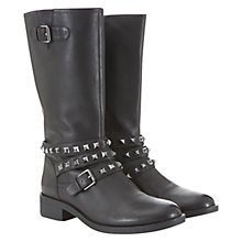 Buy Mint Velvet Zoe Leather Calf Boots, Black Online at johnlewis.com