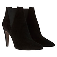 Buy Mint Velvet Kate Pointed Suede Ankle Boots, Black Online at johnlewis.com