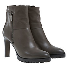 Buy Mint Velvet Seren Leather Medium Tread Heeled Ankle Boots Online at johnlewis.com