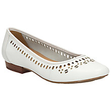 Buy Clarks Henderson Hot Leather Pumps, White Online at johnlewis.com