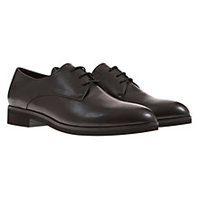 Buy Mint Velvet Margo Lace Up Leather Shoes, Black Online at johnlewis.com