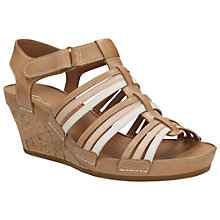 Buy Clarks Rusty Lady Leather Wedges, Brown Online at johnlewis.com