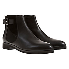 Buy Mint Velvet Grace Buckle Detail Leather Ankle Boots, Black Online at johnlewis.com