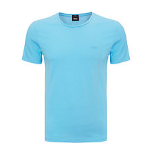Buy BOSS Leco Crew Neck T-Shirt, Sky Online at johnlewis.com