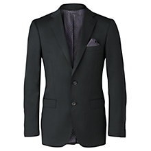 Buy Jigsaw Marzotto Mohair Slim Tailored Jacket, Charcoal Online at johnlewis.com