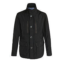 Buy BOSS Cubanz Funnel Neck Jacket, Black Online at johnlewis.com