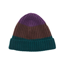 Buy Thomas Pink Strippe Ribbed Beanie, Brown/Blue Online at johnlewis.com