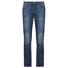 Buy BOSS Delaware Slim Fit Washed Jeans, Blue Online at johnlewis.com
