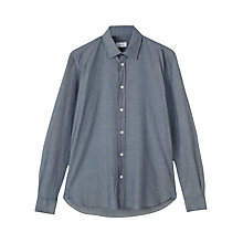 Buy Jigsaw Chambray Long Sleeve Shirt, Blue Online at johnlewis.com