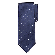 Buy BOSS Satin Dot and Circle Silk Tie, Navy Online at johnlewis.com