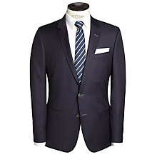 Buy BOSS Hutsons Hopsack Slim Fit Blazer , Navy Online at johnlewis.com