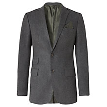 Buy Jigsaw Flannel Two Button Slim Tailored Jacket Online at johnlewis.com