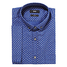 Buy BOSS Reed Slim Fit Micro Print Short Sleeve Shirt Online at johnlewis.com