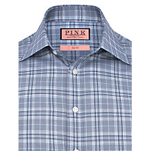 Buy Thomas Pink Harding Prince of Wales Check Slim Fit Shirt, Navy/Blue Online at johnlewis.com