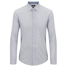 Buy BOSS Nemos Geo Print Shirt, Lilac Online at johnlewis.com