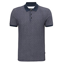 Buy BOSS Forli Geo Print Polo Shirt, Navy Online at johnlewis.com