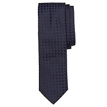Buy BOSS Tile Texture Tie, Navy Online at johnlewis.com