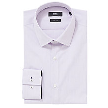 Buy BOSS Joey Stripe Shirt, Purple Online at johnlewis.com