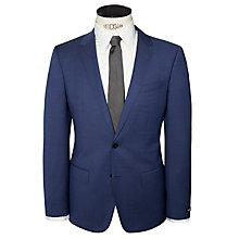 Buy BOSS Huge Genius Pindot Slim Fit Suit, Indigo Online at johnlewis.com