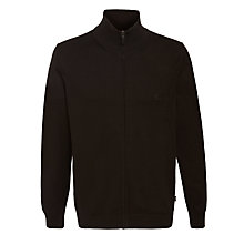 Buy BOSS Bastian Full Zip Cardigan, Black Online at johnlewis.com