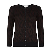 Buy Hobbs London Erika Cardigan, Light Bitter Chocolate Online at johnlewis.com
