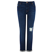 Buy Warehouse Dark Wash Girlfriend Jeans, Denim Online at johnlewis.com
