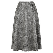 Buy Hobbs Nave Laminated Skirt, Black/Ivory Online at johnlewis.com
