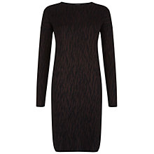 Buy Hobbs London Erika Dress, Lt Bitter Choc Online at johnlewis.com