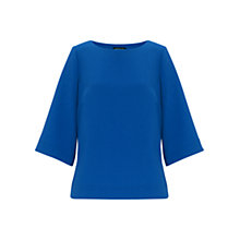 Buy Warehouse Zip Hem Elbow Sleeve Tee Online at johnlewis.com