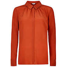 Buy Hobbs London Calla Silk Shirt, Rust Online at johnlewis.com