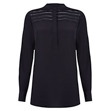 Buy Hobbs Valley Blouse, Navy Online at johnlewis.com