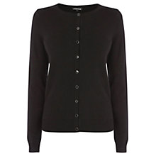 Buy Warehouse Crew Cardigan, Black Online at johnlewis.com