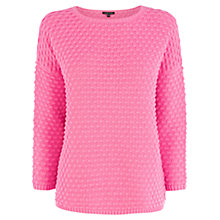 Buy Warehouse Bobble Stitch Jumper, Bright Pink Online at johnlewis.com